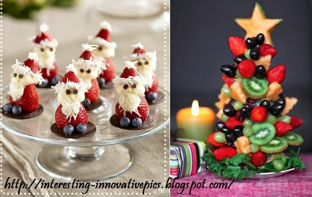 Creative Christmas Decorating ideas with Fruits