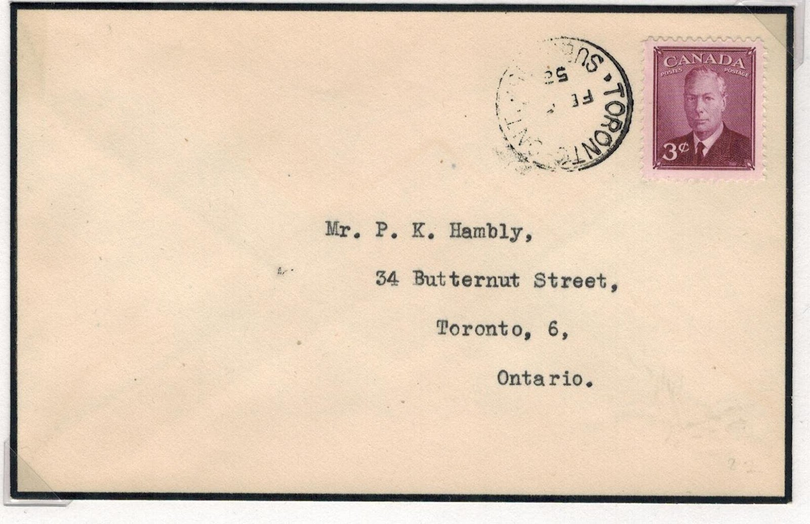 Postal History Corner Mourning Covers