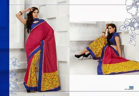 Three Colour Sarees Blouses