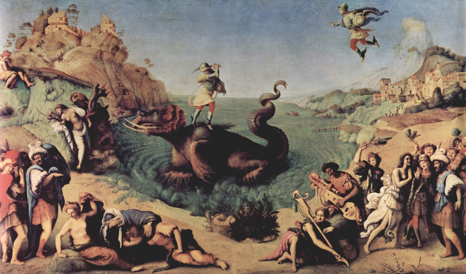 Perseus Frees Andromeda, Piero di Cosimo 1515 (Uffizi)