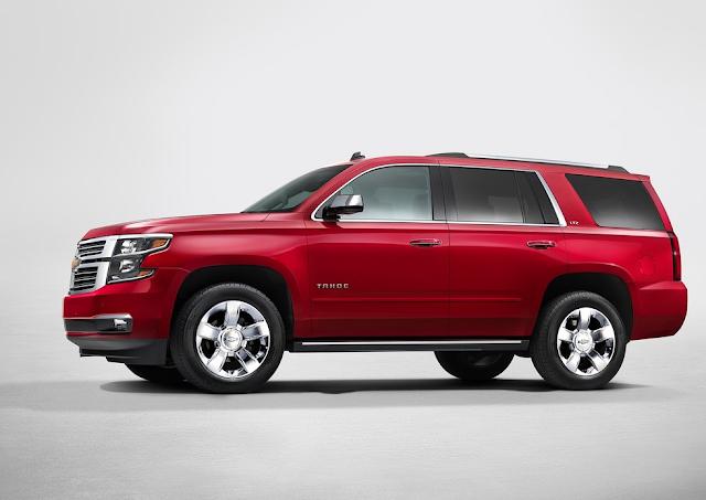 2015 Chevrolet Tahoe red