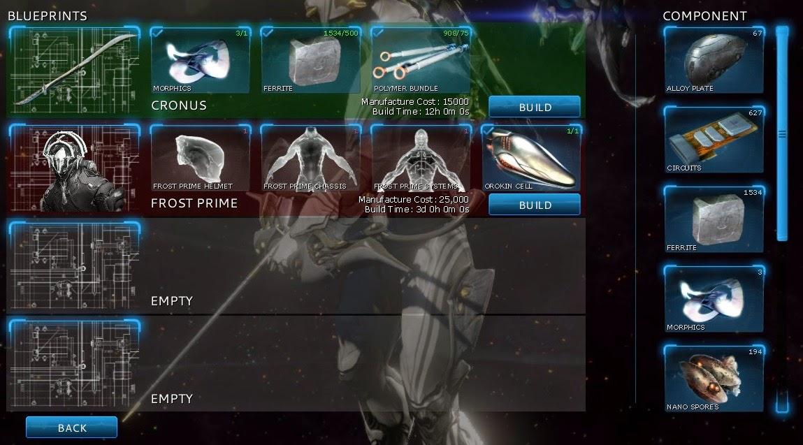 warframe inventory slots