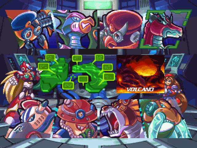 [Análise Retro Game] - Mega Man X4 - Saturn/Playstation Megaman+tela+selecao+fase+x4