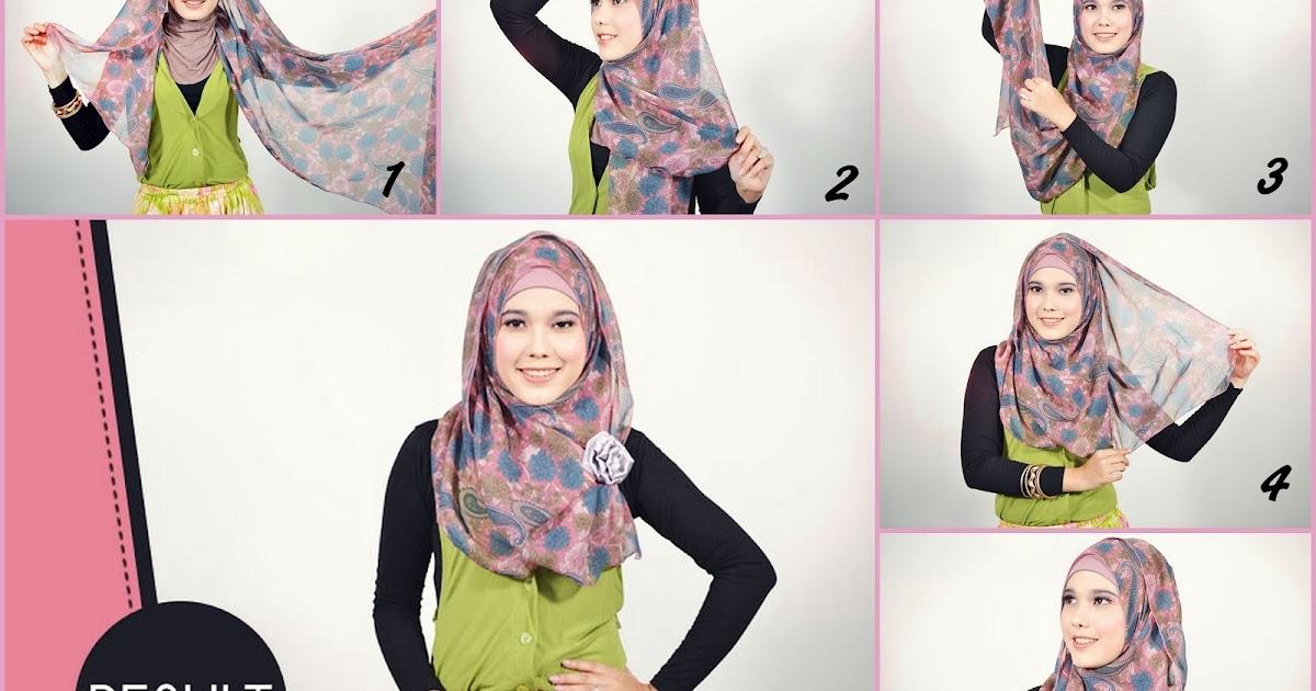 Tutorial simple and easy Hijab Pashmina Shiffon   Cara