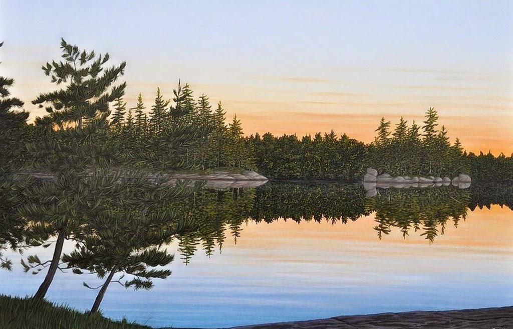 amanecer-paisajes-mar-cuadros-al-oleo