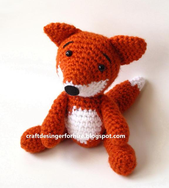 Amigurumi Crochet Designers : Craft Designer for Hire: Free Crochet Amigurumi Fox Pattern