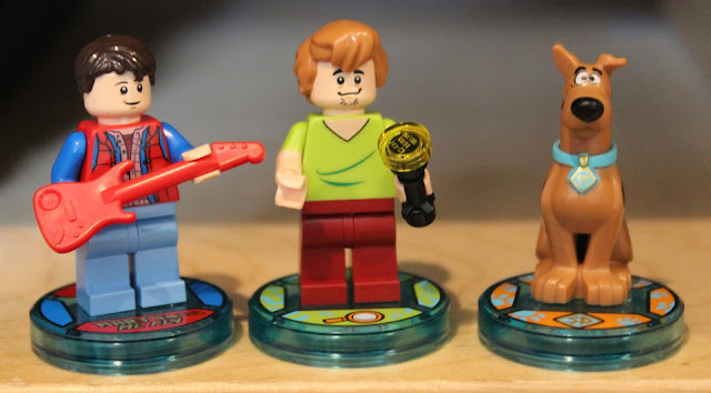 Lego Dimensions minifigures - Marty McFly, Shaggy and Scooby