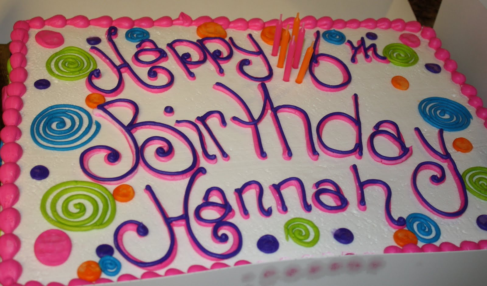 The Williamson's World: Weekend Wrap Up: Happy Birthday, Hannah!