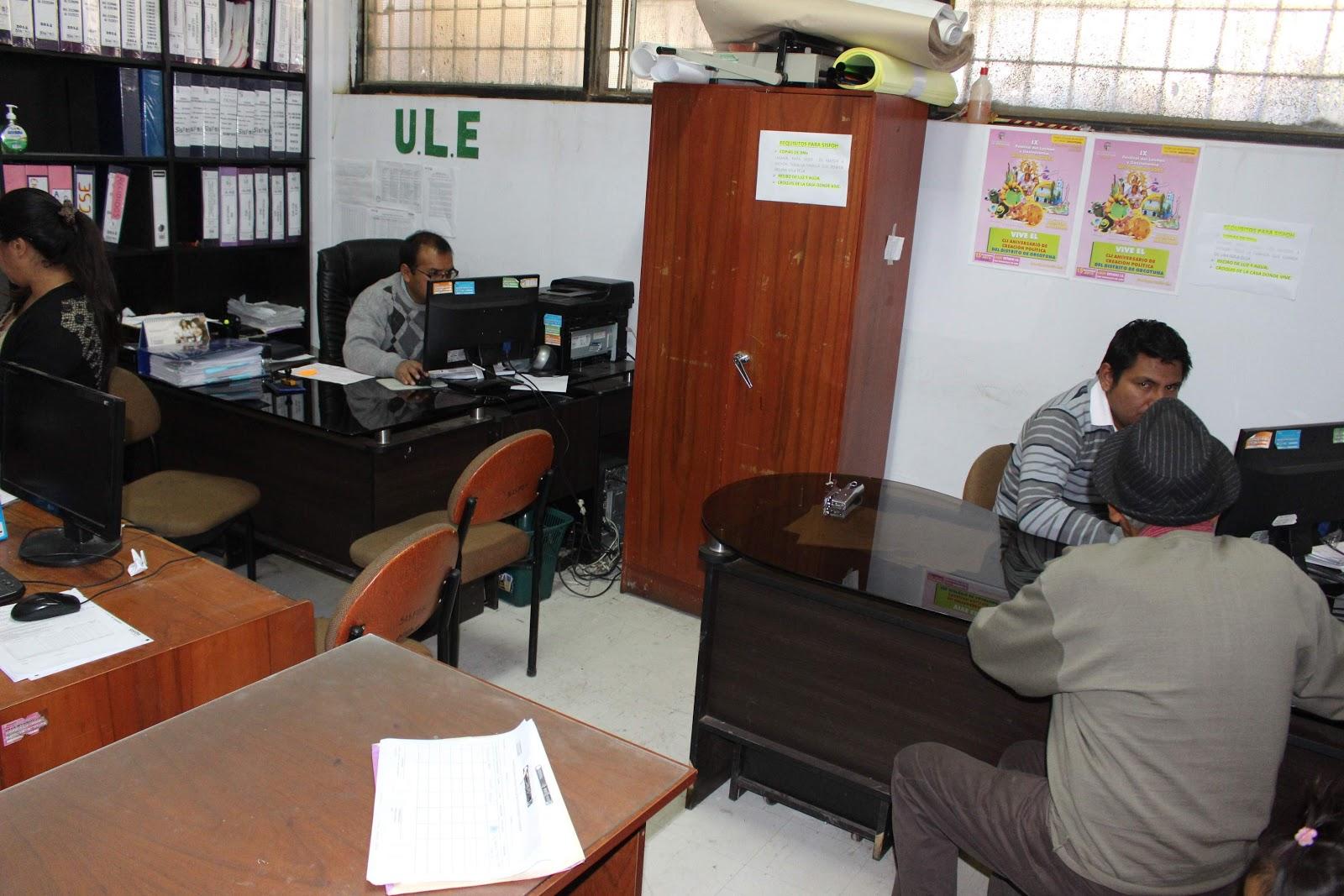 Group 10 notic as huancayo reubican oficina de sisfoh for Oficina de empadronamiento