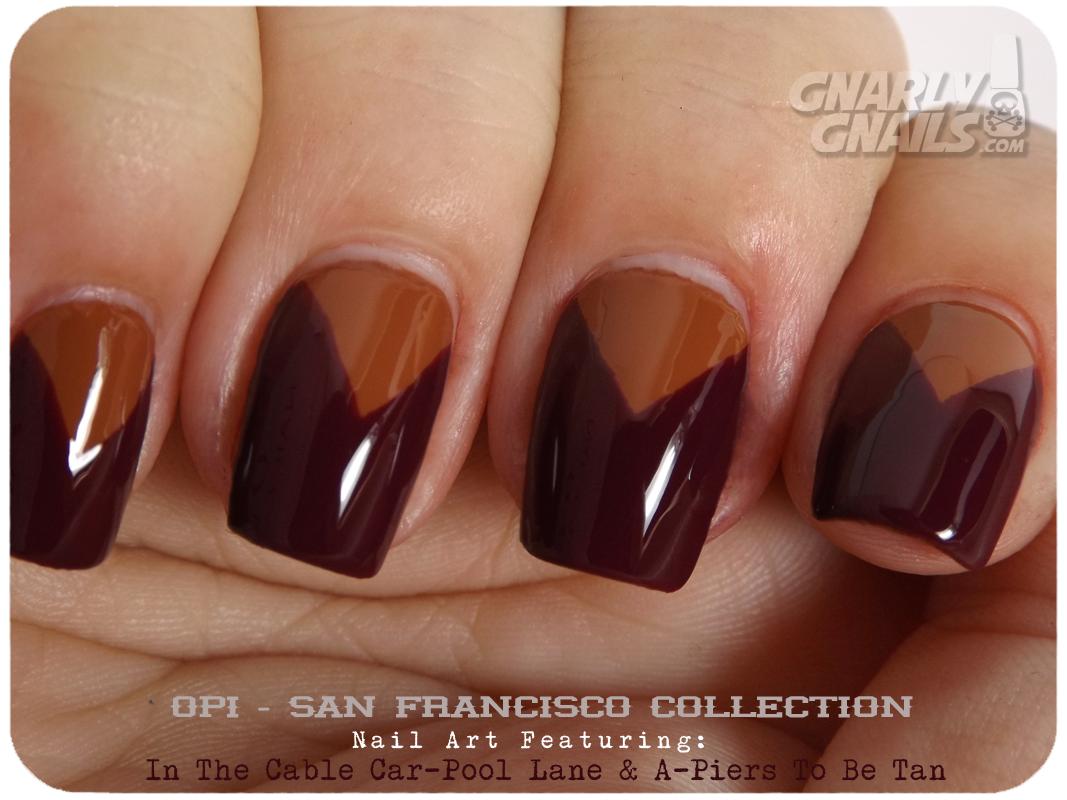 OPI San Francisco Nail Art Triangles ~ Gnarly Gnails