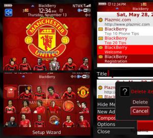 Tema Blackberry New Man United Theme for Blackberry