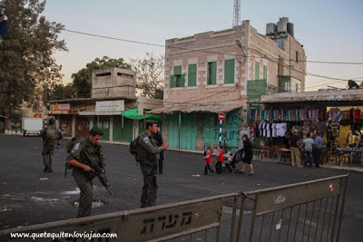 Calle solo para judios - Hebron - Palestina