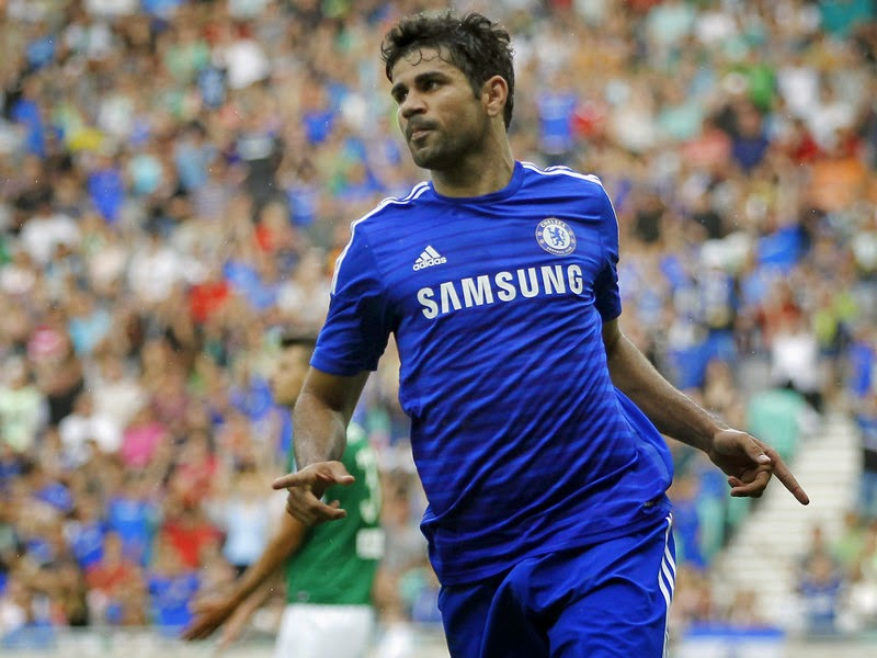 Diego Costa Spanish Striker of Chelsea