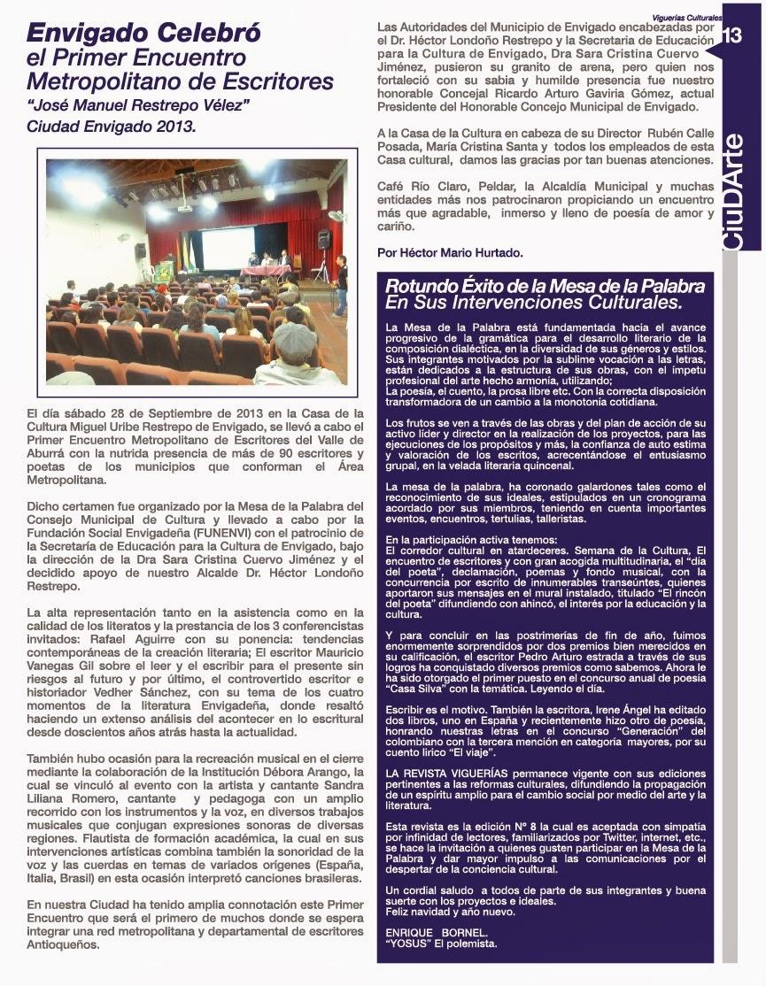 Viguerías Culturales: 2013