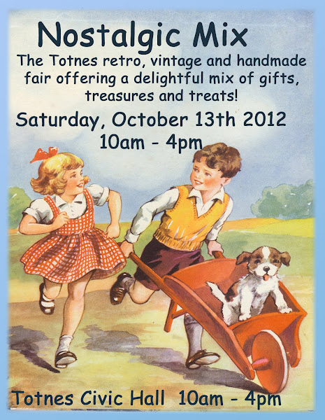 """NOSTALGIC MIX"", VINTAGE, RETRO AND HANDMADE FAIR HELD TWICE YEARLY IN TOTNES, DEVON."