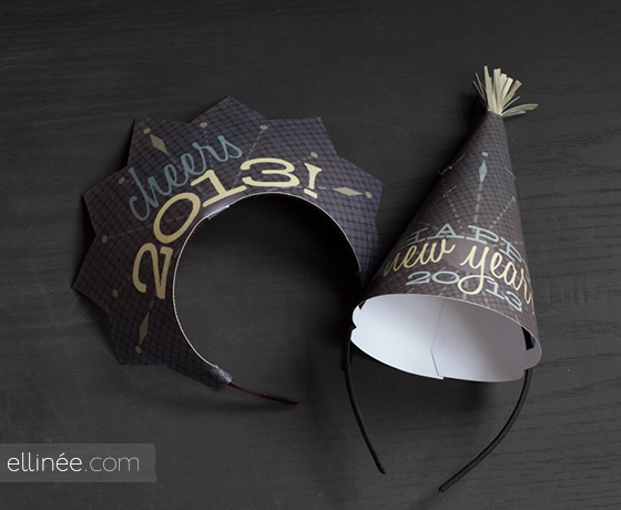 new year's eve party hats free printable