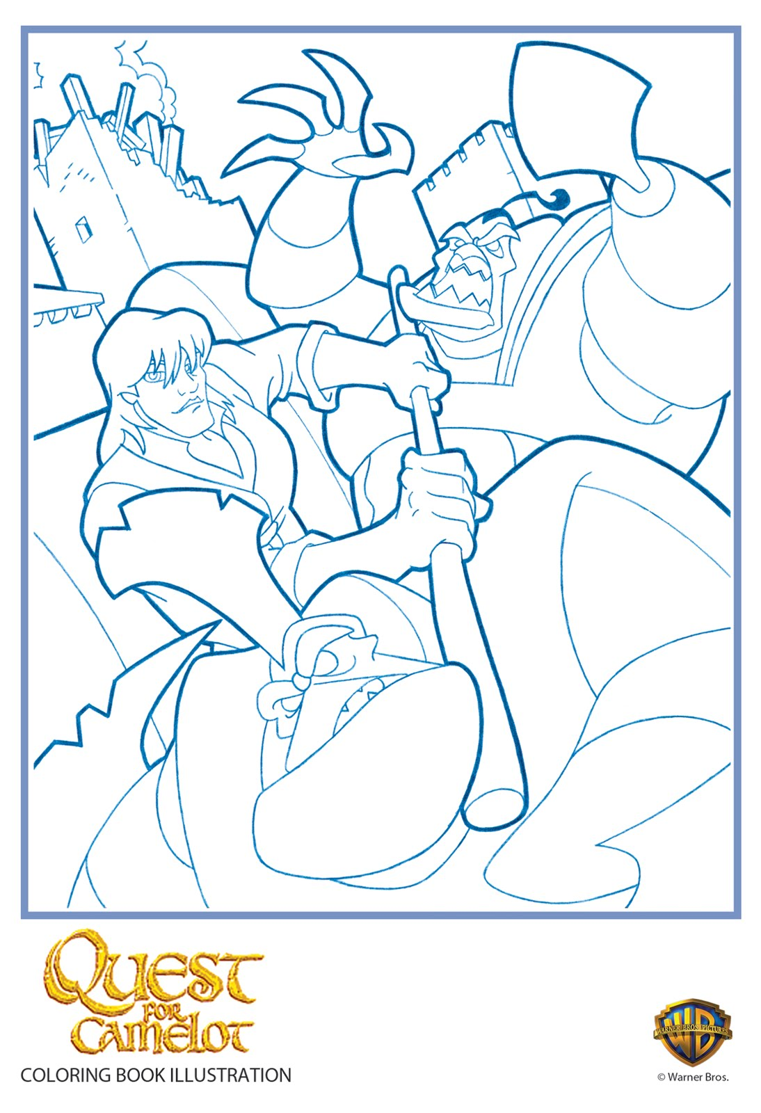 Steintime quest for camelot coloring page for Quest for camelot coloring pages