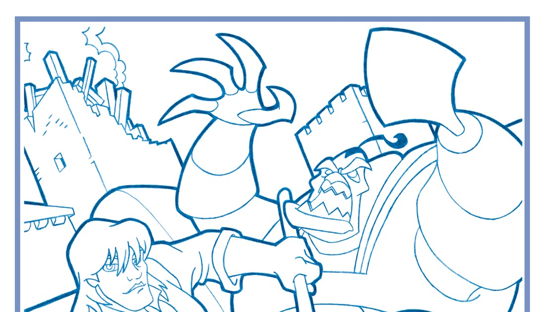 SteinTime!: Quest for Camelot Coloring Page
