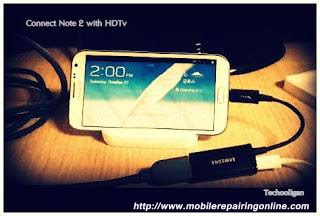 connect Samsung Galaxy Note 2 to TV