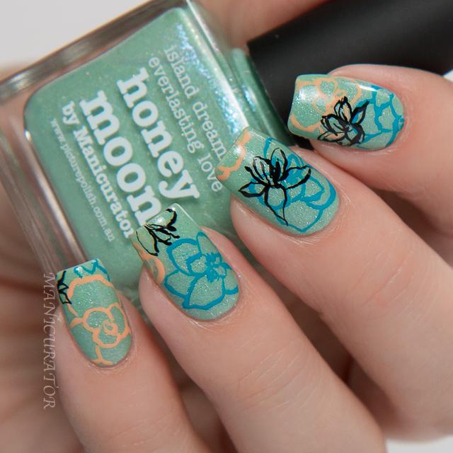 Picture-polish-freehand-flower-nail-art-honeymoon-bonbon-gelato