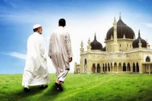 Pergi ke masjid (cover buku Motivasi Dakwah)