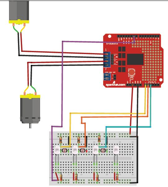 Line following robot using arduino ldr and infrared led