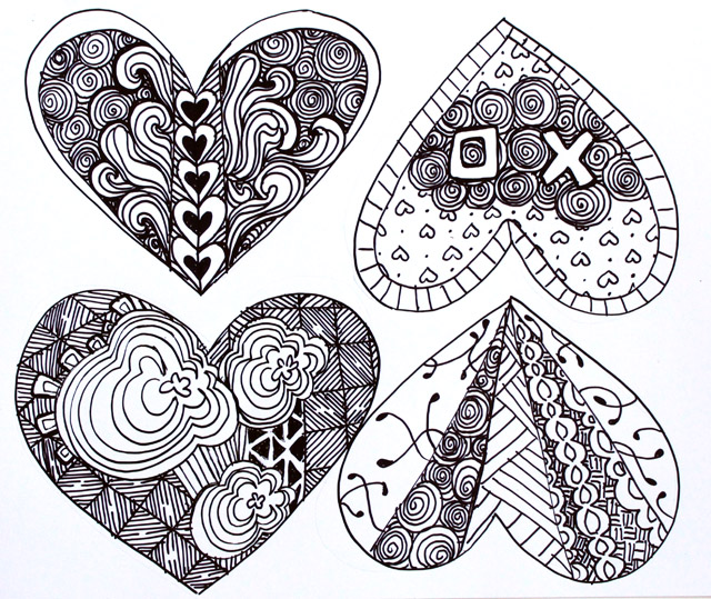 punk projects: Zentangle Valentines DIY