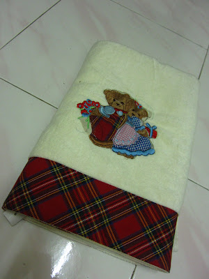 christmas teddy bear towel