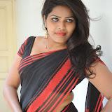 Sitara Hot Photos in Saree at Gundello Guchi Guchi Champake Movie Press Meet 43