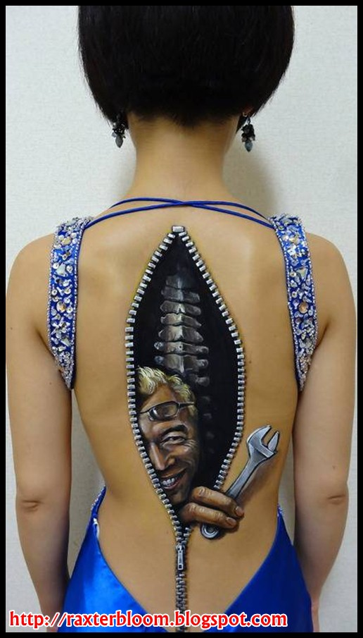 Seni Ilusi Make Up Tubuh Jepang yang Mengesankan raxterbloom.blogspot.com