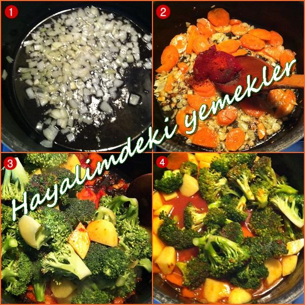 Zeytinyağlı Brokoli Tarifi,brokoliyle yapilan yemekler