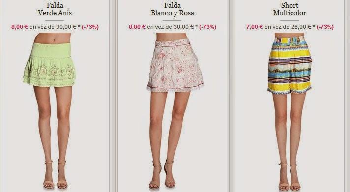 Faldas y shorts en oferta