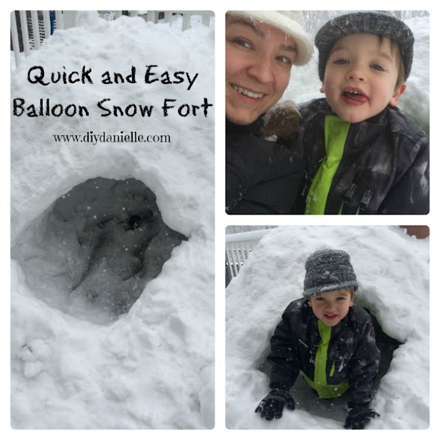 How to build a quick and easy snow fort using balloons.
