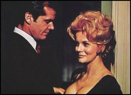 Jack Nicholson y Ann Margret en Conocimiento carnal (1971)