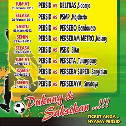 Up) Persid Jember vs Deltras FC Divisi Utama (Jum'at, 1 Februari 2013