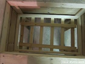 wood cooler stand, rack, water, leak