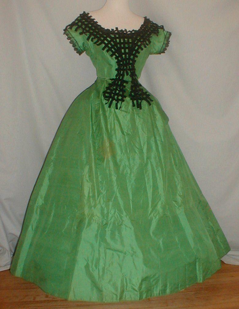 All The Pretty Dresses: Green 1860\'s American Civil War Era Ballgown ...