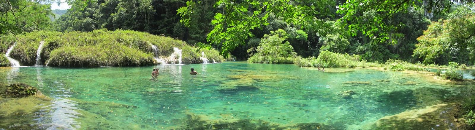 Semuc Champey lagoons in Guatemala