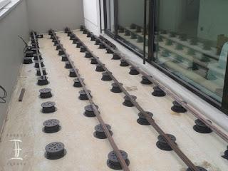montáž wpc terasy na rektifikační terče Buzon PB série