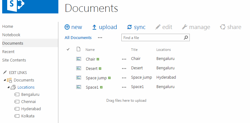 Bug column filter does not work with metadata navigation for Document library name sharepoint