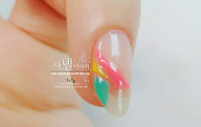 Luminous plaid nail art