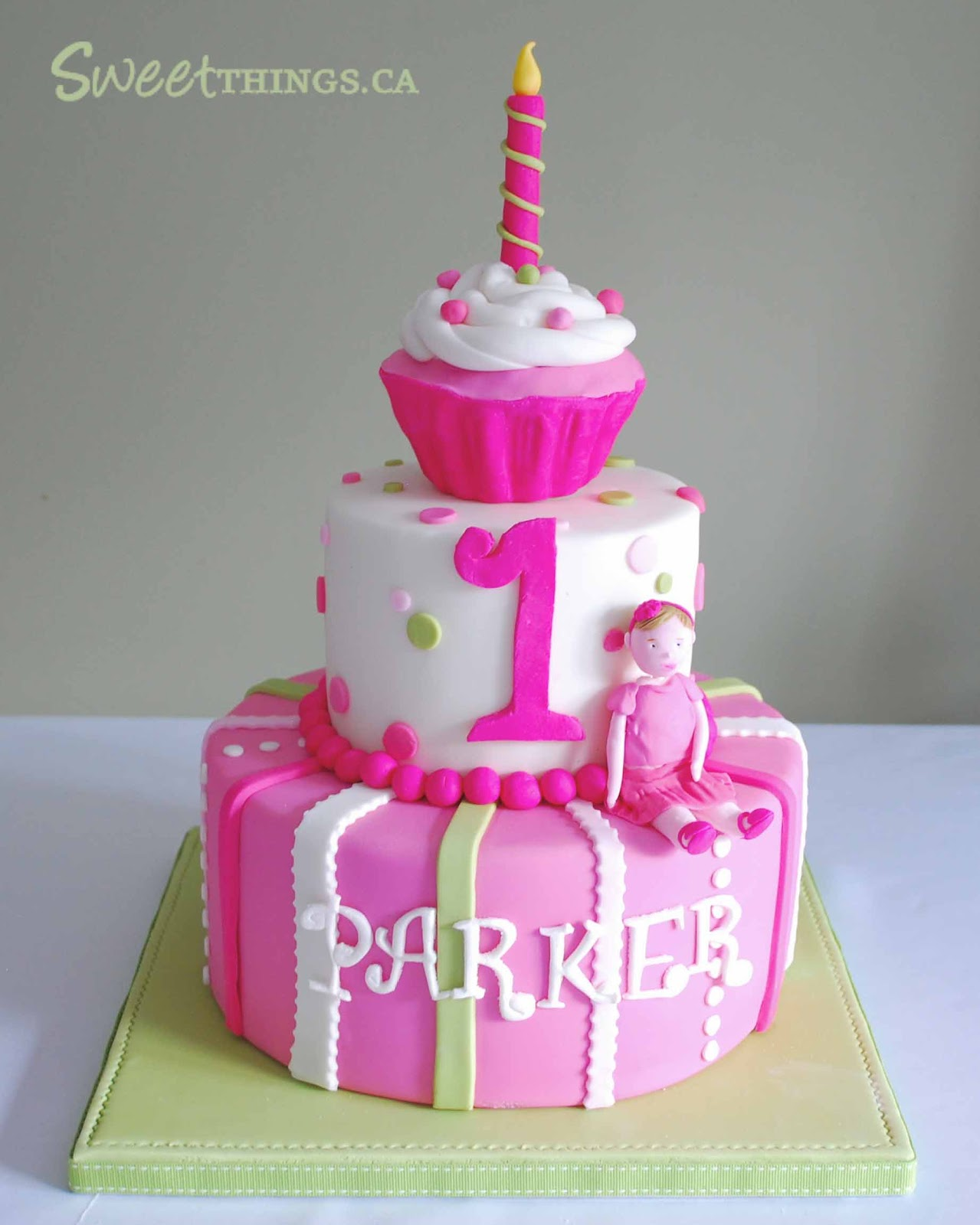 Cake Ideas For First Birthday Girl : SweetThings: Colorful 1st Birthday Cake