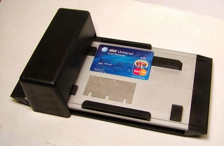 manuel credit card machine