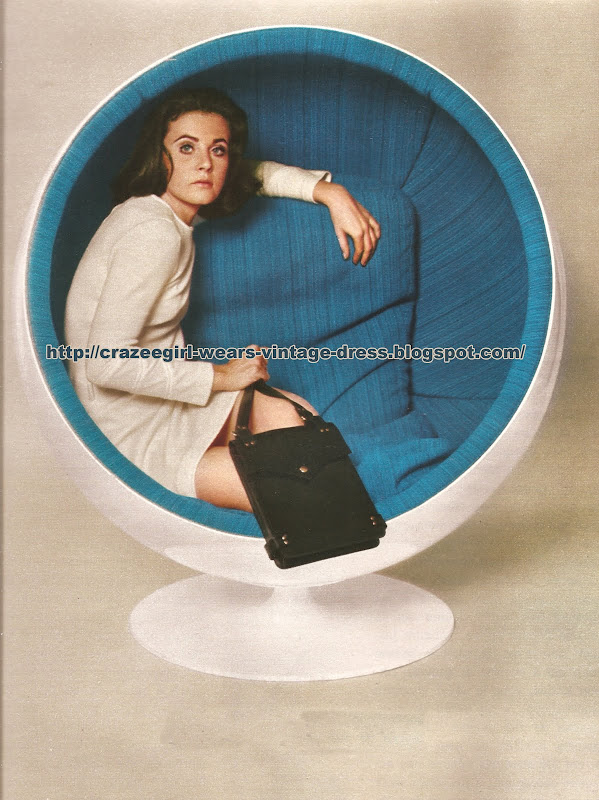 Eero Aarnio distribué par Roche Bobois  Sac handbag Dofan - 1968 bag 60s 1960