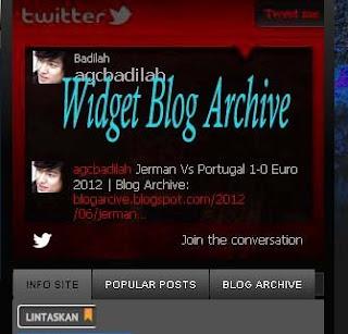 Widget di Homepage