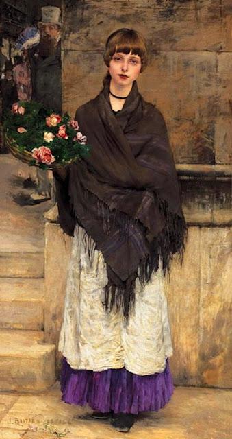 Les oeuvres picturales que vous aimez - Page 8 Jules+Bastien+Lepage+marchande+de+fleurs+%25C3%25A0+Londres+1882