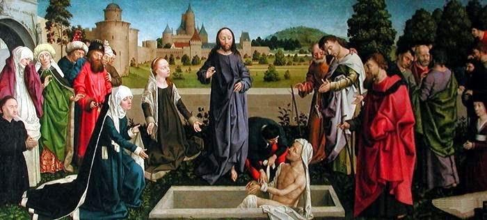 La résurrection de lazare par Colin d'Amiens vers 1450