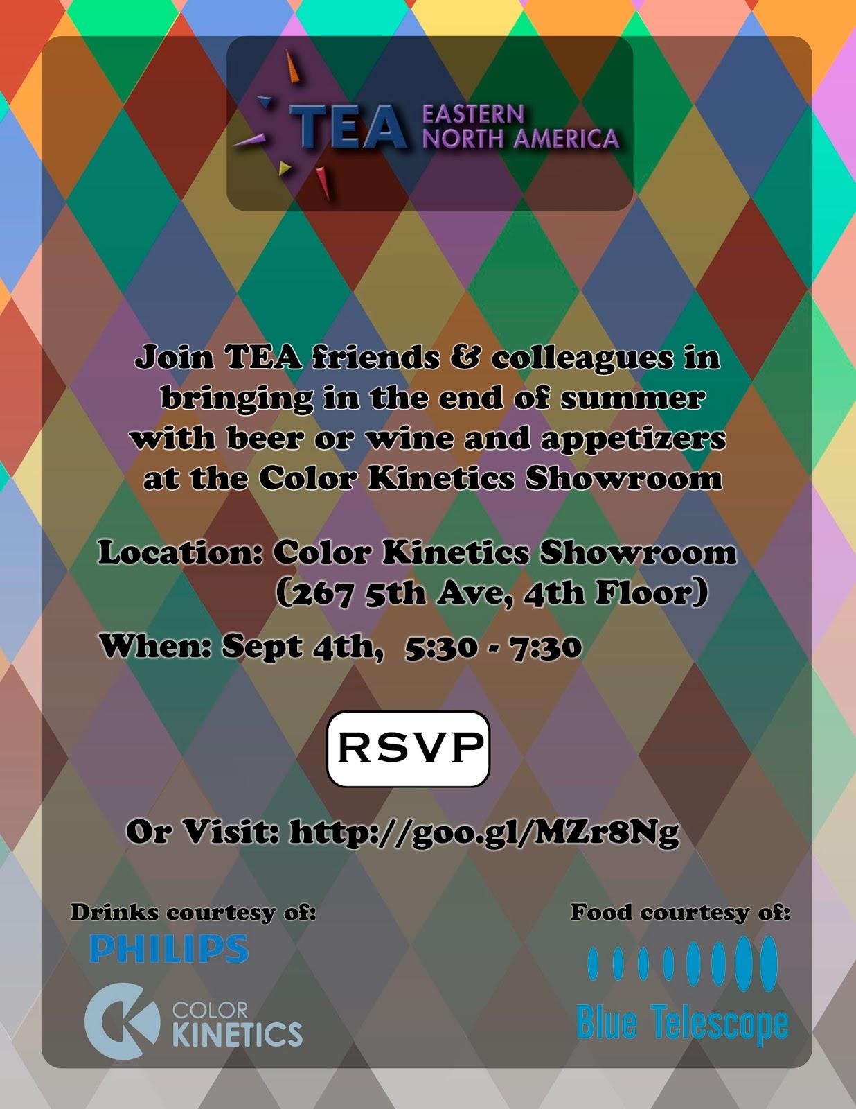 NYC, Sept 4: Mixer at Color Kinetics