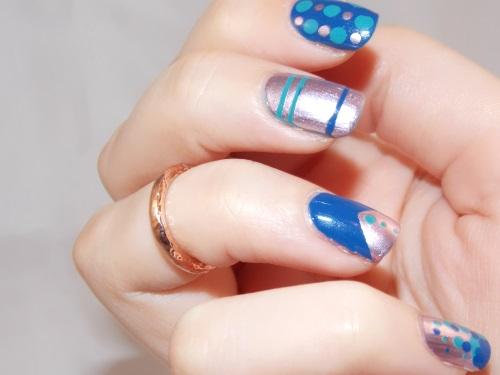 nail art nothing else metals essie silver blue blog beauté psychosexy