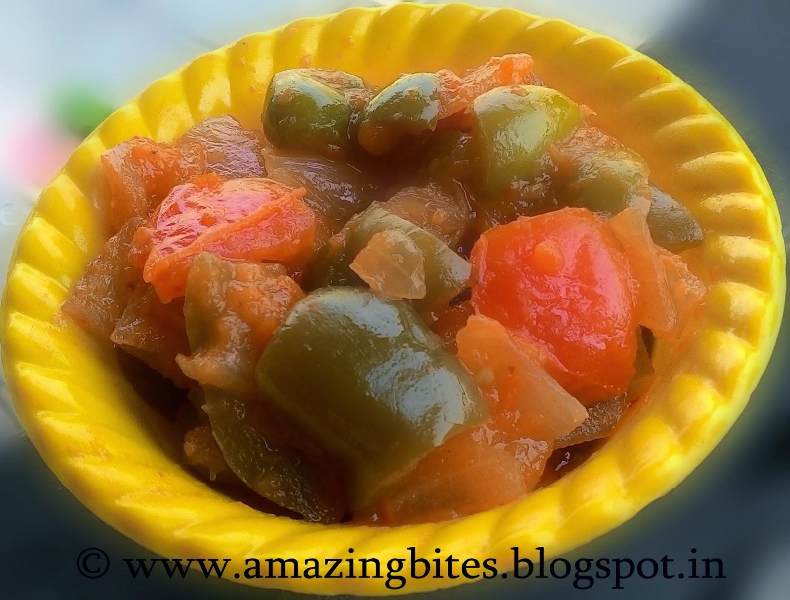 capsicum stir-fry